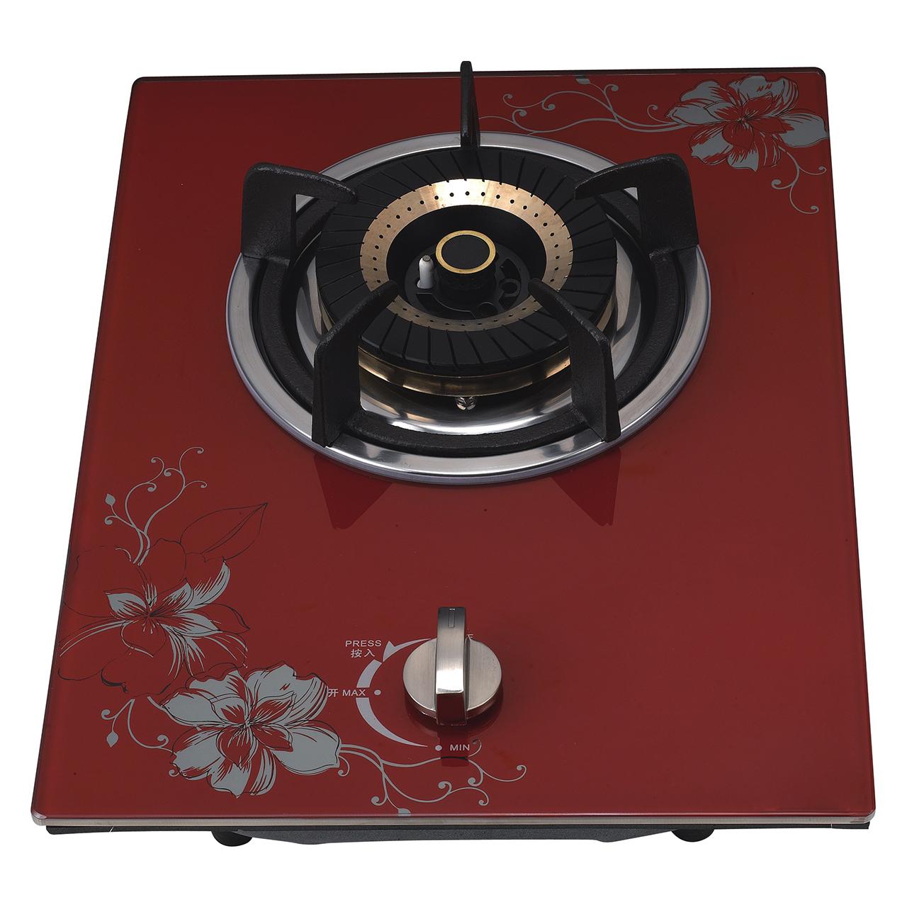 K2-Q1G008W红色玻璃单炉,燃气单灶