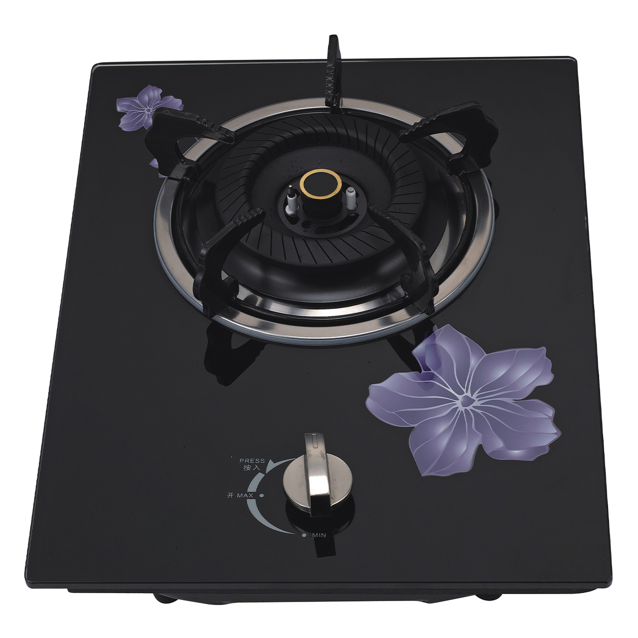K2-Q1G011W面板带花单炉,嵌入式单灶具