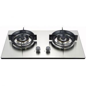 K2-Q2S005R玻璃与不锈钢结合面板,高档厨房灶具